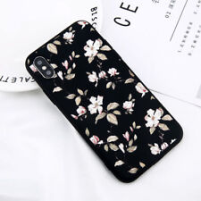 Cute Floral Pattern Rubber Soft TPU Silicone Back Case Cover For Apple iPhone X