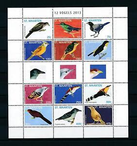 [SM128] St. Martin Maarten 2013 Birds Vögel Oiseaux Miniature Sheet MNH # 128-39