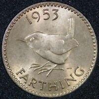 1953 Elizabeth II Farthing BU (2+B)  Freeman 663 Ref 02