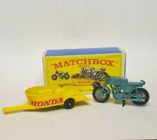 MATCHBOX LESNEY HONDA MOTORCYCLE & TRAILER No. 38 & ORIGINAL BOX