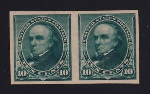 United States Sc #225P5 (1890-93) 10c Webster Plate Proof Pair on Stamp Paper