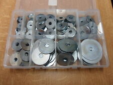 REPAIR / MUDGUARD WASHERS, BOXED ASSORTMENT, 275 Pcs, Bright Zinc Plated.M5-M10.