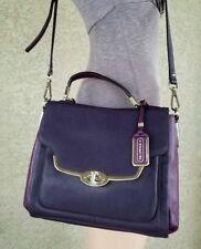COACH 26274 Madison Leather Sadie Purple Eggplant Handbag Crossbody purse bag