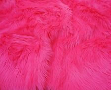 "Fur faux Hot Pink shaggy long pile upholstery custom fabric by yard 60"" wide"