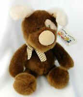 "NEW TAGS Russ Berrie PODGE Plush 10""  PUPPY DOG Brown Stuffed Animal Chocolate"