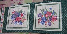 Spring flowers sewing panel to make a pillow fabric panel iris flowers spring