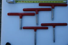 """BTI Stainless 5/8"""" and 1/2"""" T wrenches (Lots of 5)"""