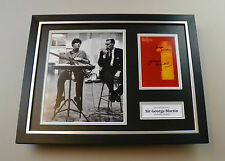 Sir George Martin Signed Photo Framed 16x12 The Beatles Autograph Display + COA