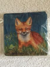 Soft Fox Coasters Set Of 4 New