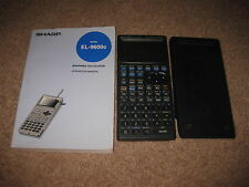 Sharp Graphing Calculator Model EL-9600c Pen Touch Screen Manual + Cover