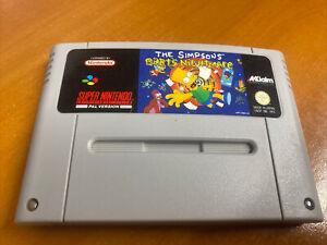 Simpsons Bart's Nightmare Snes Super Nintendo Game PAL