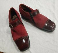 Velvet Eez Suede Maroon Side Zipper Slip On VTG Pimp Disco Shoes 9.5 D 533146