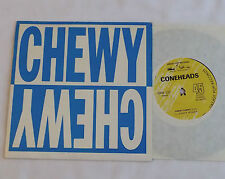 """The CONEHEADS Chewy chewy AUSTRALIA Orig 7"""" EP w/PS GREASY POP Rds(1987)EX/MINT"""