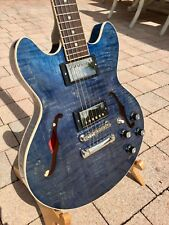 Rare Quilted Blue Gibson ES-339 US Custom Shop Collection (Figured Limited Run)