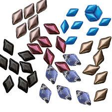 Gemduo 8x5mm Czech Glass 2-hole Diamond shape beads Matubo 30 Beads U-Pick