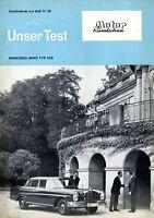 0380MB Mercedes 220 Sonderdruck Motor Rundschau 1959 17/59 Testbericht Test Auto