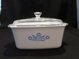 Vintage Corning Ware Blue Cornflower 1.5 Quart Casserole Dish with Lid #P-4-B