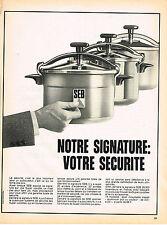 PUBLICITE ADVERTISING  1973   SEB  cocotte- minute