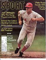 1968 AUG Sport Magazine baseball, Pete Rose, Cincinnati Reds, Bill Freehan GOOD