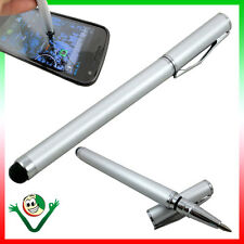 Nib Stylus Pen P Lg X Power Max Style with Integrated Ballpoint Pen Silver s4y