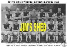 WEST HAM UNITED F.C. TEAM PRINT 1960 (Season 1960-61)