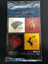 Game of Thrones House Sigil Magnet Set - Loot Crate Exclusive - New in Bag