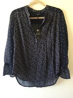 LUCKY BRAND MIXED PRINT 3/4 SLEEVES PEASANT TOP/BLOUSE: STYLE # 7W44587 - CHOOSE
