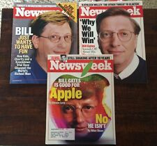 Newsweek - Lot of 3 Issues Featuring Bill Gates (1997, 1998, 1999)