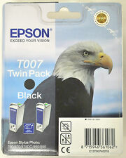 2 Cartouches d'Encre Originales EPSON T007 Noir Ink Printer (Dual Pack) 06/2011
