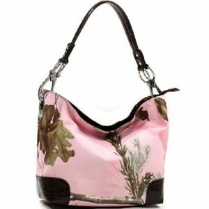 Realtree Pink Camo Bucket Purse, Camouflage Handbag Licensed