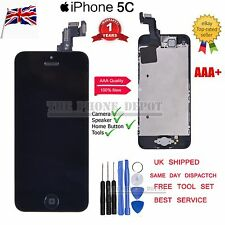 For iPhone 5C LCD Display Touch Screen Digitizer Full Replacement & Home button