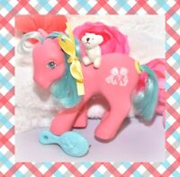 ❤️My Little Pony G1 VTG Tossles Teddy Bear HAPPY TAILS Pink Blue Earth 1987❤️