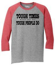Mens Tough Times Don't Last Tough People Do 3/4 Triblend Motivational Quotes
