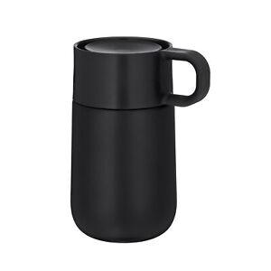 WMF Kaffeebecher / Isolierbecher IMPULSE 0,3 Liter Matt schwarz mit Henkel