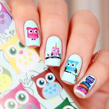 BORN PRETTY Nail Art Water Decals Transfer Stickers Cartoon Owl Decoration W09