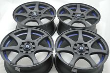 17 matt black Wheels Rims Accord Civic Cooper Miata Galant Integra 4x100 4x114.3