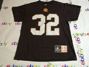 NFL Cleveland Browns Jim Brown Hall Of Fame JerseyT-Shirt (Majestic Size Medium)