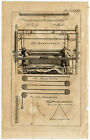 Antique Print-WEAVING-LOOM-PULLEY-ROPE-MATHEMATICS-GRAPH-Buys-1770