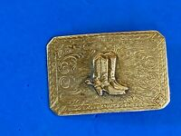 vintage beautiful cowboy boots western belt buckle