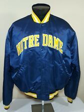 Vtg Starter Jacket Satin Notre Dame Fighting Irish XL 80s 90s Coat NCAA