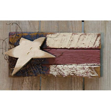 Patriotic Baby Lath Flag Country Farmhouse Wall Hanging Sign Americana Primitive