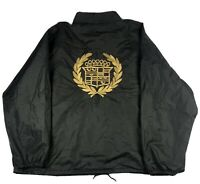 Vintage Cadillac Windbreaker Rain Jacket Plack Gold Made In The USA Size 5XL RLR