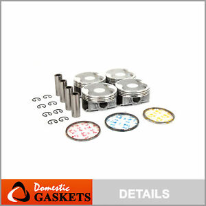 Pistons and Rings fit 06-10 Subaru Legacy Forester Outback 2.5 SOHC EJ253