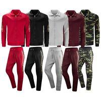 New Men Lightweight Track Suit Billionaires Club Jacket Pants Gold Foil M-3XL
