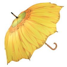 Galleria Art Print Walking Length Umbrella - Sunflower Bloom