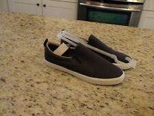 NEW GAP Navy Blue and Brown Men's Slip-On Canvas Shoes Size 10
