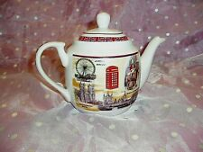 """Rare & Unique, """"London Themed Ceramic Teapot With Matching Lid"""", Big Ben, Wheel"""