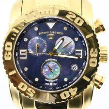 Men's Swiss Legends Chronograph Diamonds Sapphire Crystal Watch Wristwatch