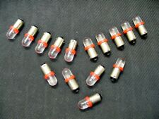 15 BRIGHT Red LED Instrument Panel Dashboard Domes Lights Bulbs BA9S 1895 Ford