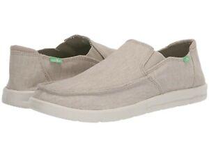 Men's Shoes Sanuk HI FIVE Casual Canvas Moc Toe Slip On Sneakers 1109240 NATURAL